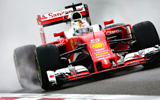 Vettel fastest in a wet Saturday practice