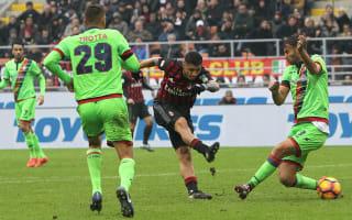 AC Milan 2 Crotone 1: Lapadula winner spares Niang's blushes
