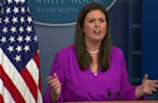 Sarah Huckabee Sanders scolds 'fake news'