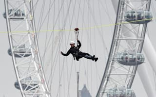 Watch daredevils zipwire across the Thames raising £1m for charity