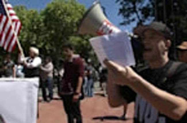 Protesters converge on Berkeley in support of Ann Coulter