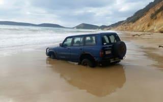 The Australian beach that 'swallows' cars