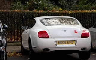 World's snappiest learner has L plates on Bentley