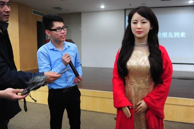 Este robot tan real es capaz de hablar con humanos