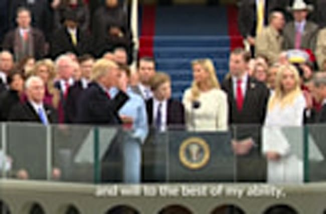 Donald Trump is sworn in as 45th U.S. president