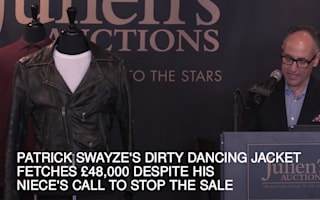 Swayze's Dirty Dancing jacket fetches £48,000 despite niece's call to stop sale