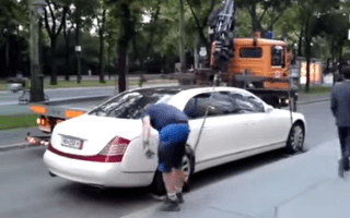 Tow truck operators left defeated by heavy Maybach