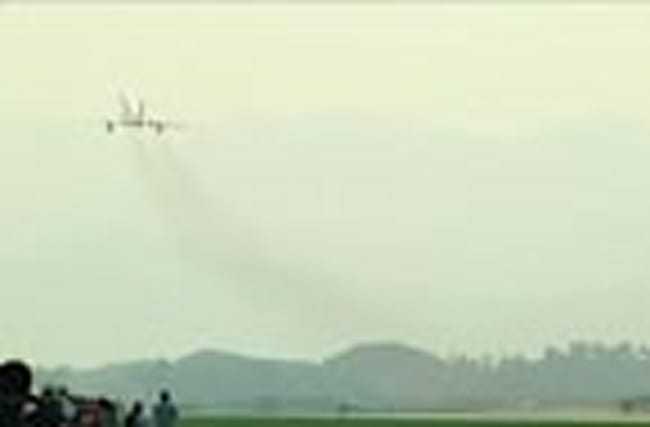 North Korea hosts air show