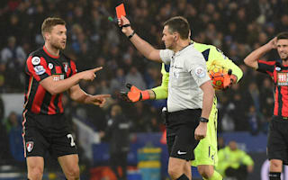 Bournemouth boss Howe disagrees with Francis red card