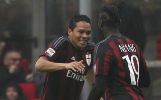 AC Milan 2 Genoa 1: Bacca and Honda continue hosts' resurgence