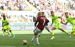 AC Milan 3 Bologna 0: Deulofeu, Honda and late Lapadula goals clinch Europa League spot