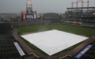 Coors Field covered in blanket of hailstones before Rockies face Cubs
