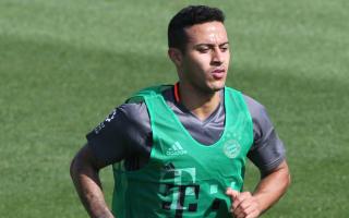 Thiago back in Bayern training as Arsenal showdown looms