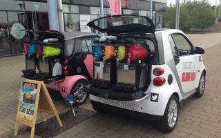 Man creates booming 'slushie' business from back of Smart car