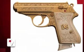 Infamous Nazi golden gun up for auction