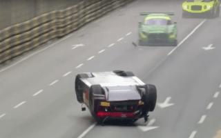 Audi R8 racer flips car but still wins race
