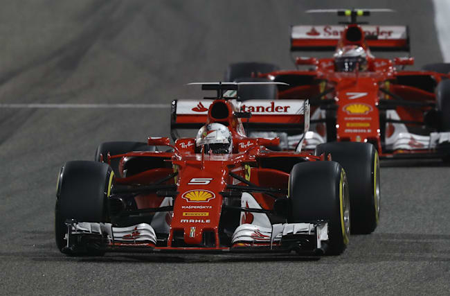 Joy for Ferrari in Russia as Vettel leads front-row lockout