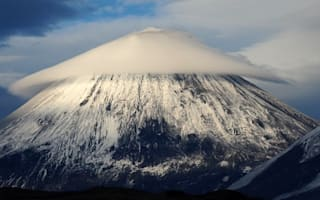 Tourist captures amazing pic of 'strange object' hovering over volcano in Russia