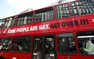 Driver refuses to board bus because of gay rights poster on the side