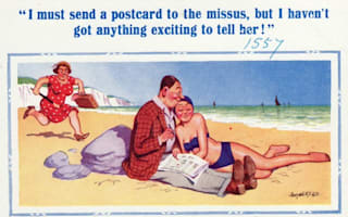 Banned saucy seaside postcards from the past