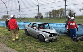 BMW driver lucky to be alive after 110mph crash