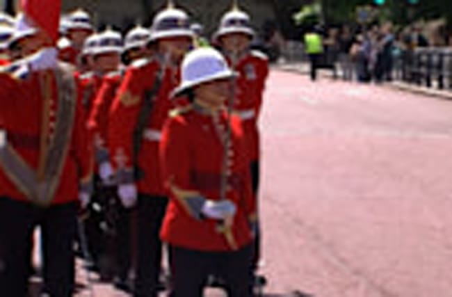 Canadian soldier becomes first woman to captain UK Queen's guard