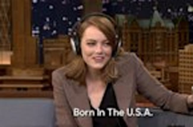 Watch Emma Stone and Jimmy Fallon Hilariously Fail at the 'Singing Whisper Challenge'