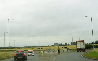 'Confused' lorry driver caught going the wrong way around a roundabout