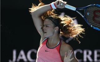 Sakkari delighted to oust struggling Schmiedlova