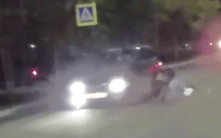 Four pedestrians hit by car in Russia