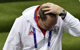 Russia coach Slutsky hints at departure after Euro 2016 exit