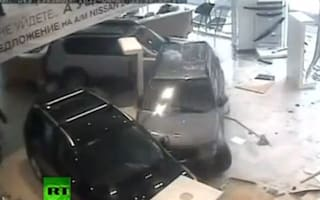 Russian doctor snaps and goes on dodgem rampage in car showroom