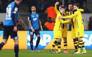 Hoffenheim 2 Borussia Dortmund 2: Aubameyang's landmark goal salvages draw after Reus red card