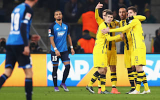 Hoffenheim 2 Borussia Dortmund 2: Aubameyang's landmark goal salvages draw after Reus red card