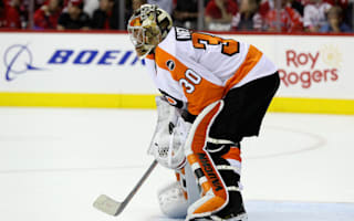Flyers goalie Neuvirth released from hospital after collapse