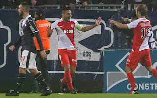 Falcao's first hat-trick in four years sends Monaco top of Ligue 1