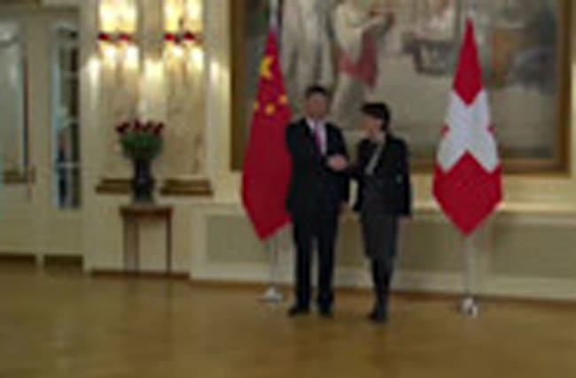 Switzerland and China hold bilateral talks, before Xi Jinping heads to Davos