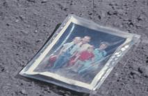 Unusual things left behind on the moon