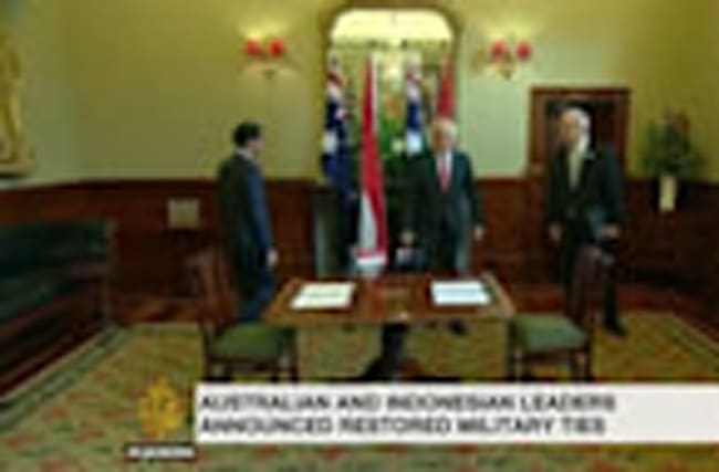 Indonesia and Australia restore full military ties