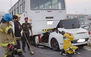 Ferrari driver lucky to survive horror smash