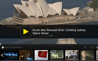 'Drunk' man rescued from top of Sydney Opera House (video)