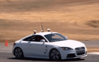 Self-driving car outpaces racing driver