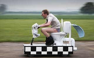 Would you flush and go on the world's fastest toilet at 55mph?