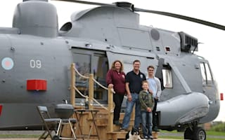 Sea King helicopter turned into holiday home