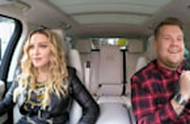 Madonna Critiques James Corden's Dress Sense on 'Carpool Karaoke': 'It's Very Seattle 1990s'