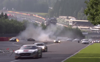 Video: Huge pile-up at 24 Hours of Spa