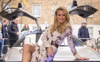 Amanda Holden experiences Back To The Future DeLorean