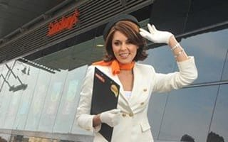 Danielle Lineker dresses as sexy air hostess for new Easyjet campaign