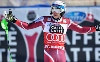 Myhrer claims St Moritz slalom as Kristoffersen misses record