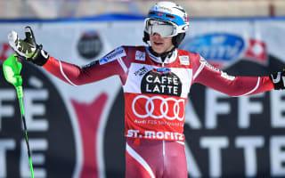 Myhrer claims St Moritz slalom as Kristoffersen misses record